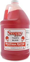 Snappy Snow Cone Syrup - Tiger's Blood - 1 Gallon