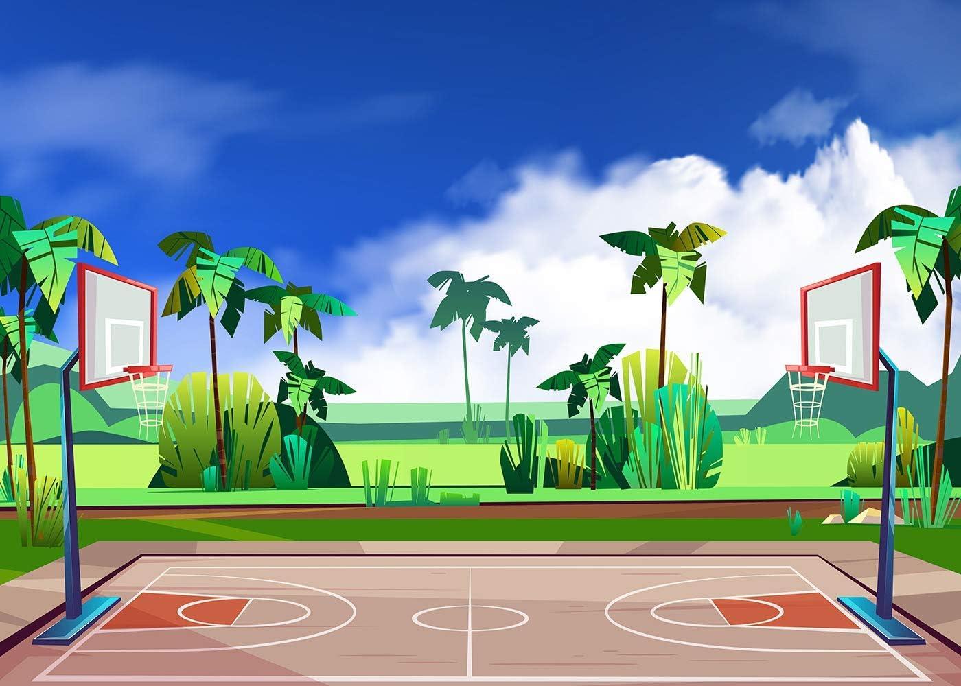 15x10ft Basketball Background Sports Photography Backdrop Photo Studio Props LHFU121