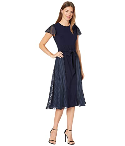 LAUREN Ralph Lauren Flutter Cap Sleeve Day Dress Women