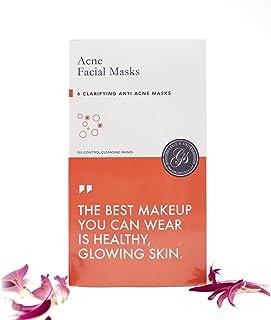 Gesichtsmasken 6 Stück - zur Behandlung von Akne/Anti-Aging & Falten/Feuchtigkeit/Anti-Stress - Beste Alternative zu koreanischen Masken Akne, 6 Stück
