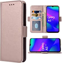 Compatible with Oppo A5 2020 Folio Flip Wallet Case,PU Leather Credit Card Holder Slots Heavy Duty Full Body Protection Ki...
