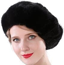 Valpeak Women Winter Berets Real Mink Tail Fur Hat