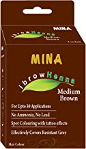 Mina Eyebrow Henna Medium Brown Regular Pack & Tinting Kit For Brow Dye