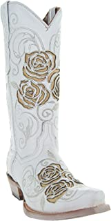 Turquoise Rose Country Cowgirl Boots M50032