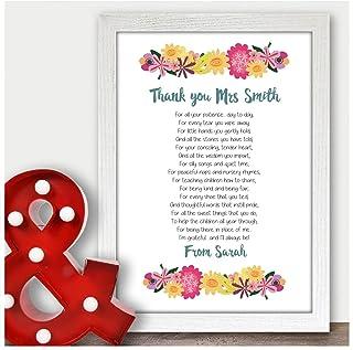 Personalised Bookmark Gift Name Reading Charm Mum Dad Nan Friend Postal Gifts