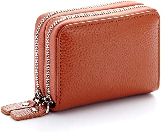 imeetu Genuine Leather Zipper Wallet Purse Credit Card Case Holder