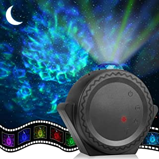Star Projector, ECOWHO Planetarium Projector, Night Light Projector with 3-in-1 Ocean Wave Star Moon Neubla for Kids, 2000...