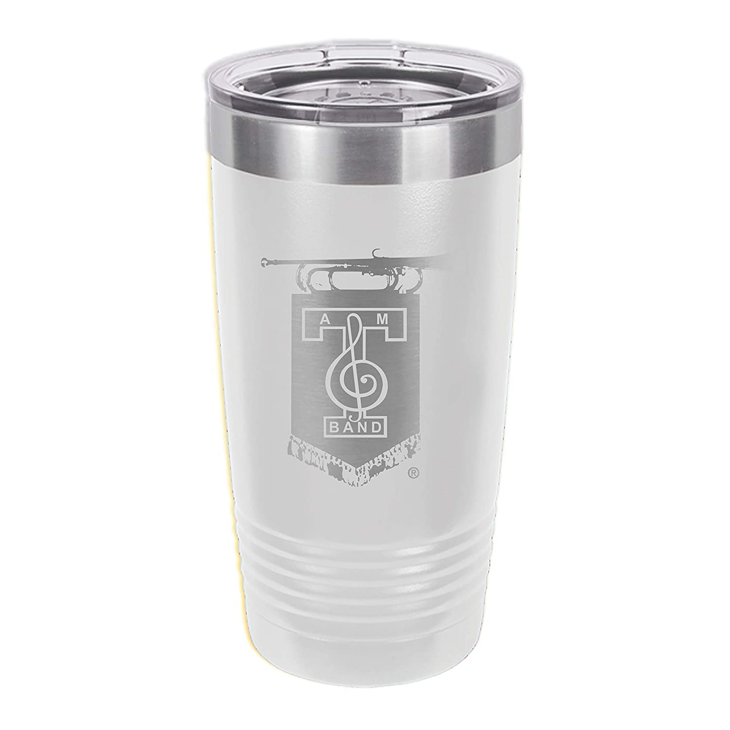 Fresno Mall 20oz The Fighten Texas Aggie Band at logo AM Pol Engraved Industry No. 1