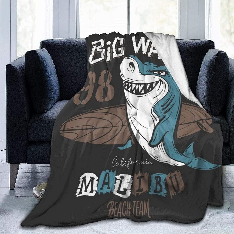 Fleece Blanket Throw and Throws Shark trust Lightweight Our shop most popular S Surf Super