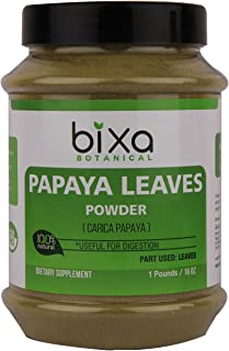 Papaya Leaf Powder (Carica Papaya) | Ayurvedic Herb for Digestion & Increasing platelets, Herbal Supplement for Normal Blood Sugar Levels (1 Pound / 16Oz)