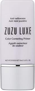 ZUZU LUXE Color correcting Primers (Bright Now),1 fl oz, prime skin to reduce the appearance of fine lines,create flawless...