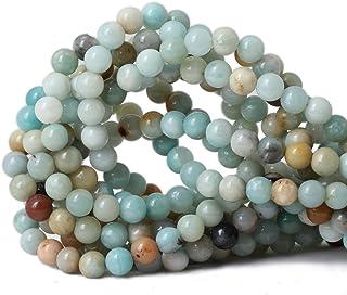 "Qiwan 45PCS 8mm Amazonite Gemstone Loose Beads Natural Round stone Crystal Energy Stone Healing Power for Jewelry Making 1 Strand 15"""