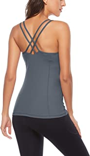 ZHENWEI Workout Shirts Yoga Tops Activewear Tank Tops for Women Running Fitness Sports Exercise Gym T-Shirts Tees Compress...