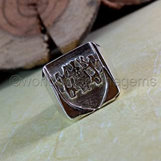 family crest, 925 sterling silver, sterling silver men's ring, coat of arm man ring, man signet ring, man personalised ring, customized jewelry