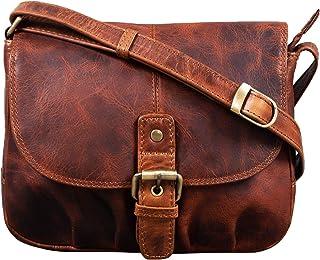 """STILORD Iris"""" Leder Handtasche Damen klein Vintage Umhängetasche zum Ausgehen Klassische Abendtasche Partytasche Freizeittasche Echtleder"""