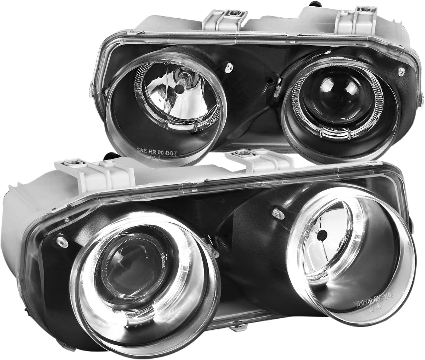 Spec-D 期間限定今なら送料無料 Tuning Halo Jdm Black 評価 Headlights Projector Lamps 1994 for