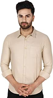 SKAVIJ Men's Casual Slim Fit Shirts Long Sleeve Business & Daily Shirts Basic Designed