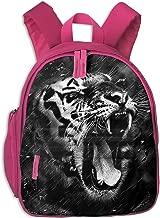 OuJin Baby Child Angry Tiger Art Preschool Schoolbag Bag Backpack Satchel Rucksack for Boys Pink