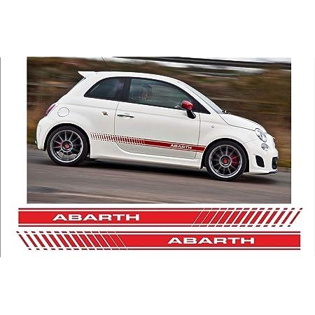 Auto Dress Side Stripes Sticker Set Decor Suitable For Abarth 500 595 In Choice Of Colour Motif Abarth Esseesse Matte Black Auto