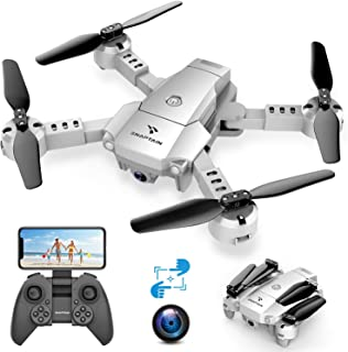 SNAPTAIN A10 Mini Drone con Cámara 720P HD Plegable FPV Control de Voz, Control de Gestos, Trayectoria de Vuelo, Vuelo Cir...