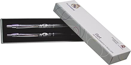 Real Madrid SET-26-RM Set Bolígrafo y Roller Metal