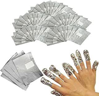 120Pcs Nail Art Gel Polish Remover Soak Off Removal Shellac Foil Wraps with Cotton Pad Nail Wipe