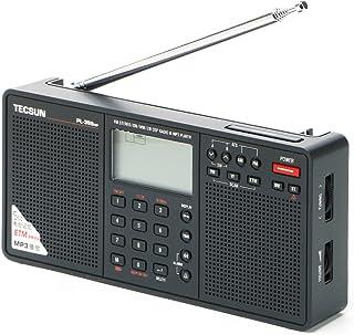 TECSUN PL-398MP デジタルDSP短波ラジオ 左右ステレオスピーカー SDカードスロット MP3再生 ポータブルBCL受信機 FMステレオ/LW/MW/SW ワールドバンドレシーバー 550局プリセットメモリー 外部オーディオ入力 ...