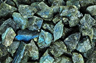Fantasia Materials: 2 lb Labradorite Rough Stones from Madagascar