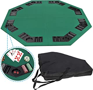 JupiterForce Foldable Poker Table Top Game with Carry Bag, Green