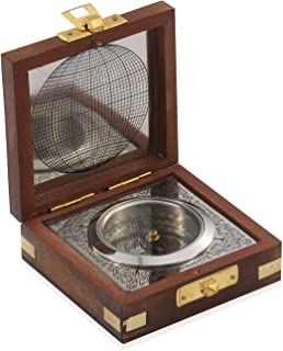 Shop LC Delivering Joy Handcrafted Wooden Box with Built in Silvertone Compass for Love