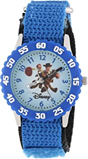 Disney Kids' W000061 Toy Story 3 Time Teacher Woody & Jessie Stainless Steel Watch With Nylon Band