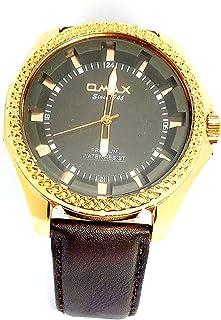 ساعة يد للرجال من اوماكس - رياضية، متعددة الألوان، مينا سوداء - سوار من الجلد - مقاومة للماء - Beeb1236
