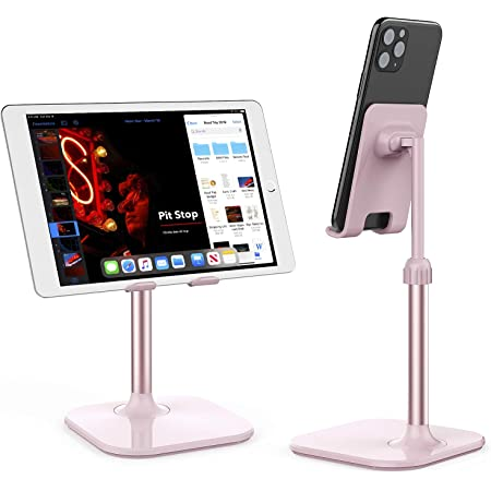 Cell Phone Stand,Doboli Phone Stand for Desk,Phone Holder Stand Compatible with iPhone and All Mobile Phones Tablet Pink