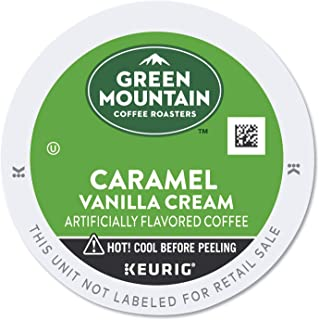 Green Mountain Coffee Caramel Vanilla Cream, Flavored, Light Roast Coffee, 24 Count