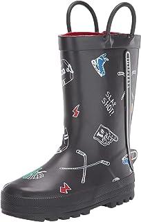 Carter's Kids' Puck Pull-on Rainboot Rain Boot