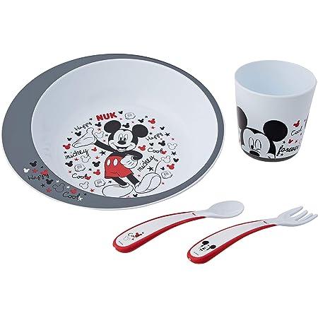 NUK Set Pappa per bambini | Bicchiere, posatine e piattino | Disney Mickey Mouse | Topolino