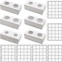 FRIMOONY 300 Cardboard Coin Holders in 6 Assorted Sizes, with 6 Sheets Coin Pocket Pages, for Coin Collection