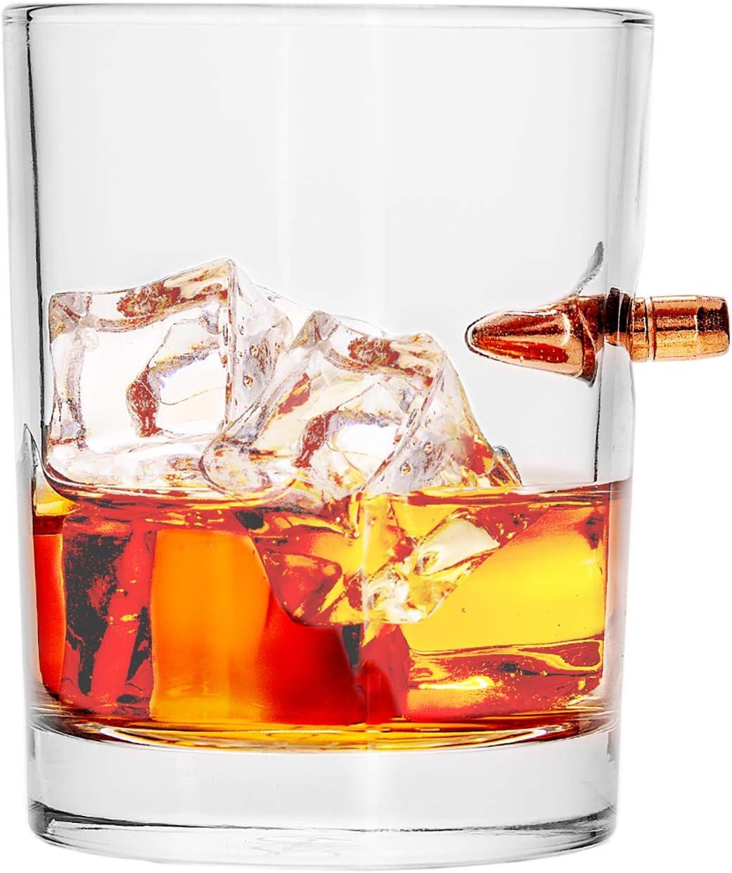308 CALIBER WHISKEY GLASS Max 73% OFF Embedded OFFer Ro Bullet 10oz Borosilicate