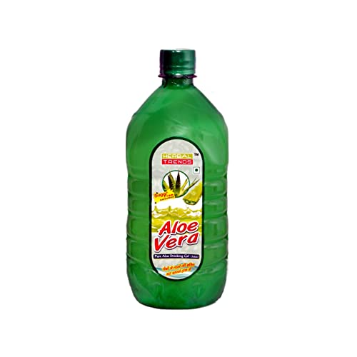 Herbal Trends Aloe Vera Drinking gel( Juice) 1 Ltr.-with Rich Pulp-Totally Fresh