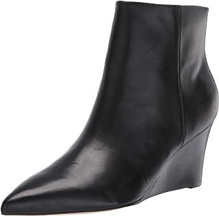 Nine West Women's Carter Wedge Booties Ankle Boot, Black, 6.5