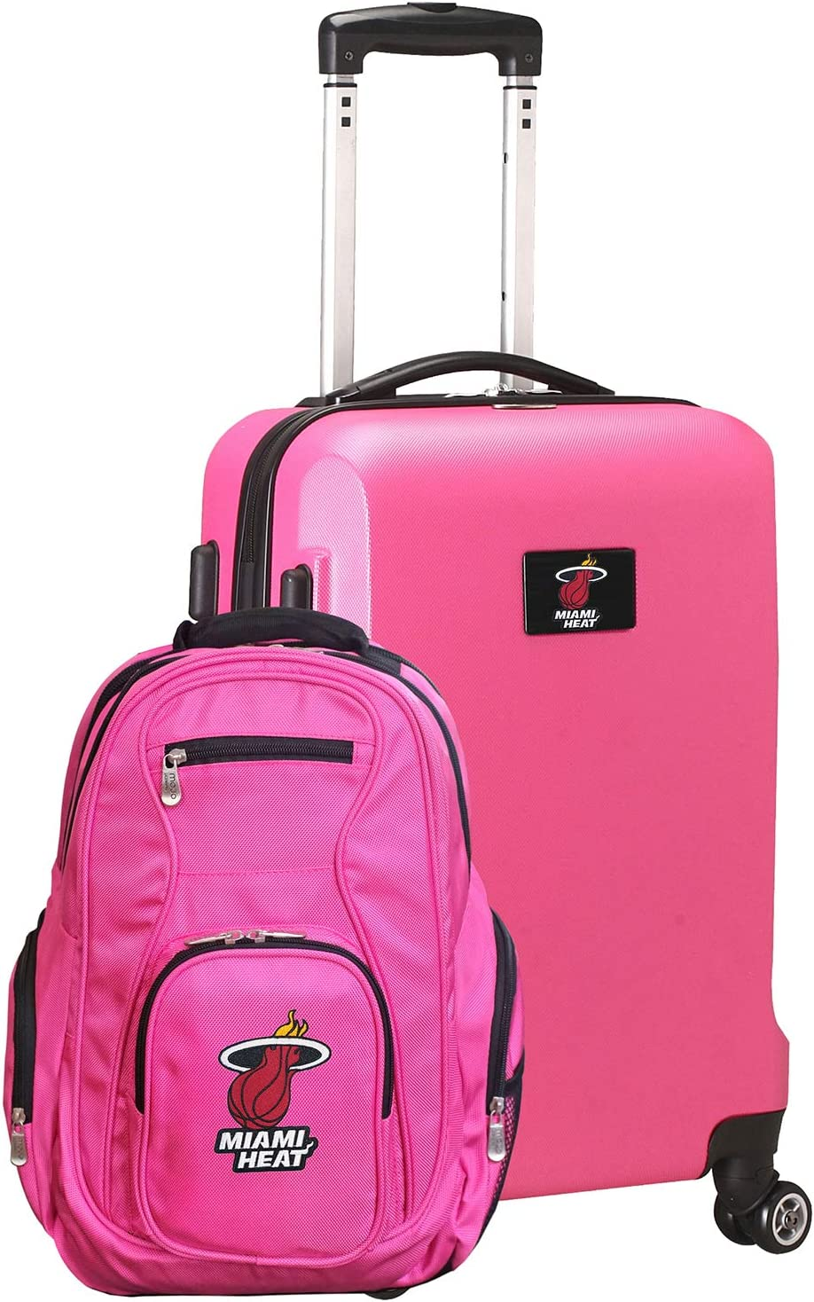 NBA L104 Deluxe 2-Piece Backpack Luggage and OFFicial shop Pink Spring new work Set Carry-On