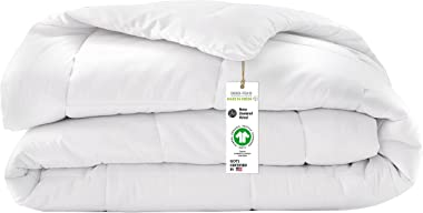 A1 HOME COLLECTIONS A1HC All Season Wool Duvet Insert or Stand Alone Comforter, Sateen Noiseless Organic Cotton Shell, Baffle