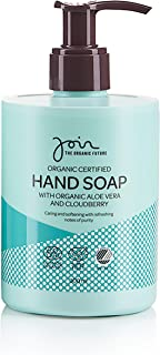 Join Organic Certified Hand Soap with Aloe Vera & Clooudberry - Vegan Ecolabel- 300 ml.
