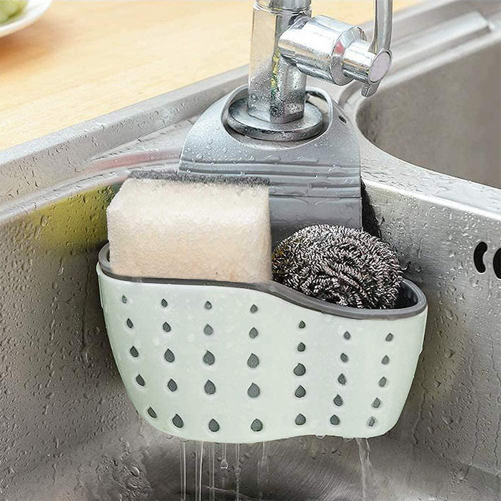 Topics on TV Kitchen Special sale item Sink Caddy Sponge Holder Plastic Soap Silicone Ha