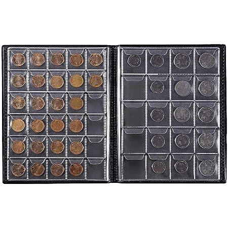 Blu Collezionisti di Monete da Collezione Porta Album FAVOMOTO 120