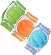 Baby Knee Pads for Crawling (3 Pairs) – Adjustable Breathable Waterproof Safety..