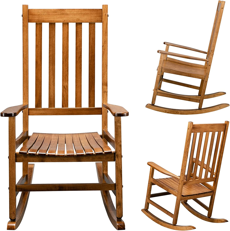 Original Luxury Color Wooden Rocking Ro Square 68.586115CM Chair Outlet sale feature