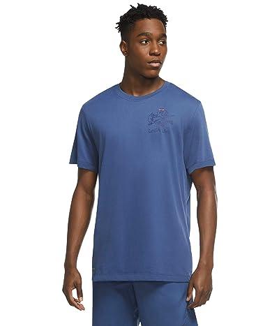 Nike Dri-Fit Cotton Tee Leg Day Illustrated (Mystic Navy) Men