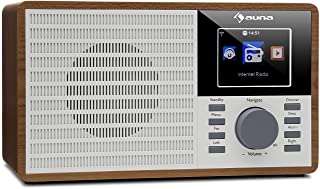 "auna IR-160 Internet Radio - Radio Alarm, Digital Radio, WLAN, MP3/WMA-compatible USB Port, AUX, Alarm Clock, Music Streaming via UPnP, 2.8"" TFT Color Display, Retro Look, Remote Control, Brown"