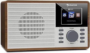 auna IR-160 Internet Radio - Radio Alarm, Digital Radio, WLAN, MP3/WMA-compatible USB Port, AUX, Alarm Clock, Music Stream...